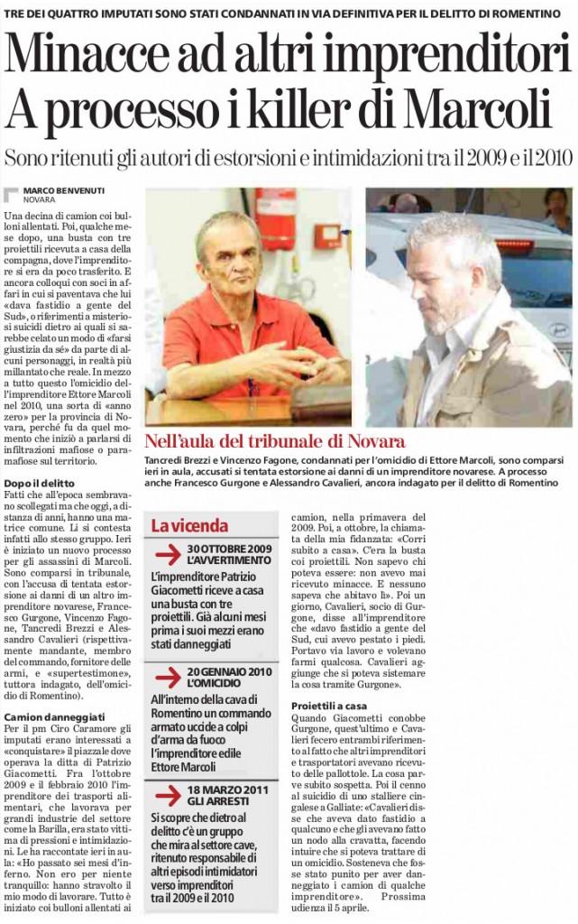 25-11-2015_Minacce ad altri imprenditori A processo i killer di Marcoli