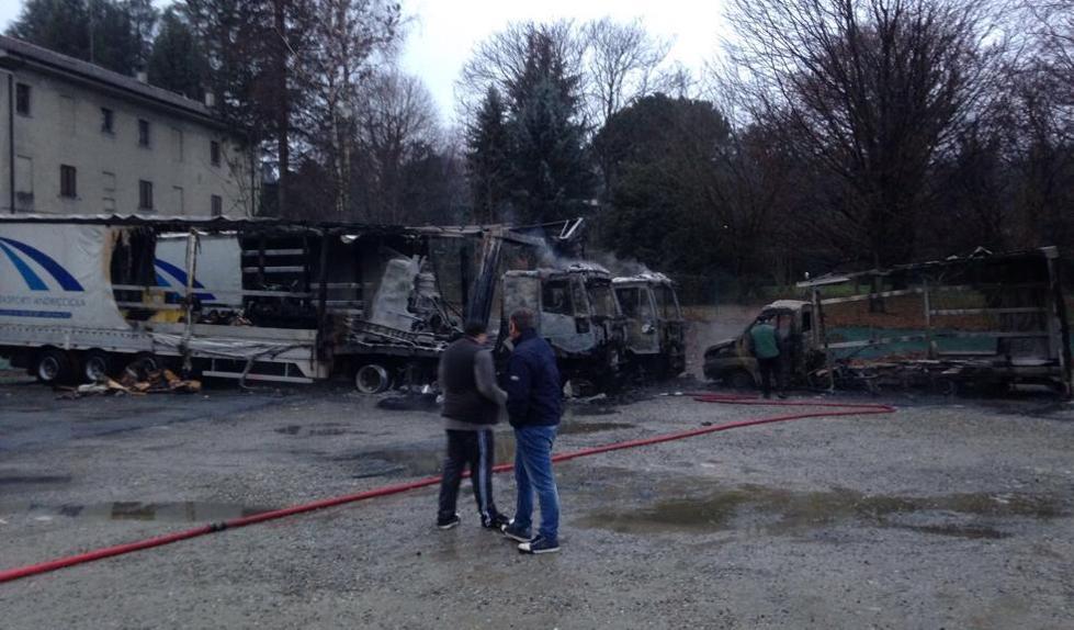 incendio camion borgo ticino